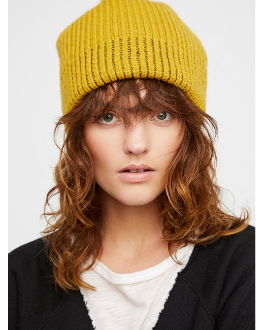Free People | Brown All Day Every Day Slouchy Beanie | Lyst