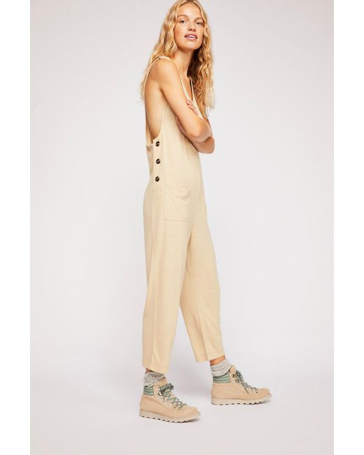 73d9fc22f5a Free People - Natural On The Run Jumpsuit By Fp Beach - Lyst ...