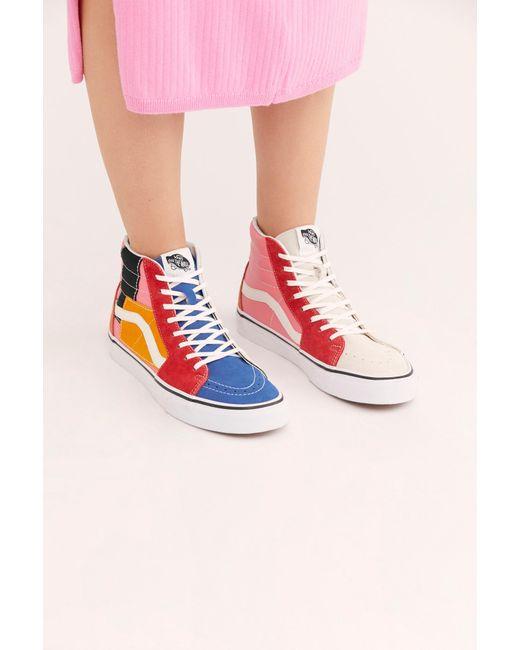 66690c1d12fc5a ... Free People - Multicolor Sk-8 Hi Patchwork Sneaker By Vans - Lyst ...