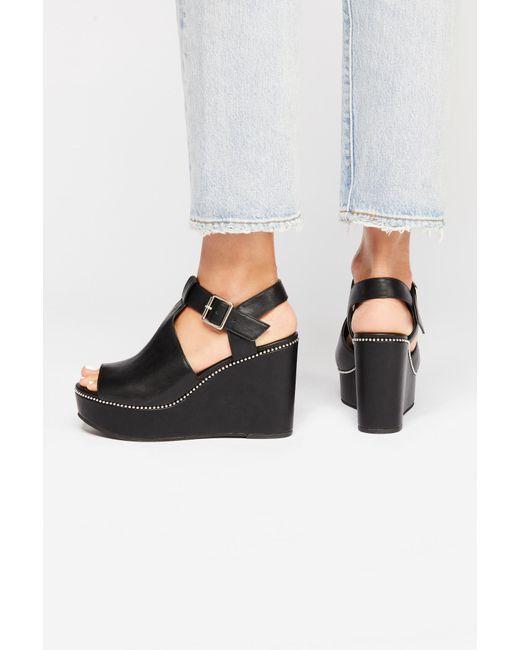Free People - Black Vegan Darcy Wedge By Bc Footwear - Lyst