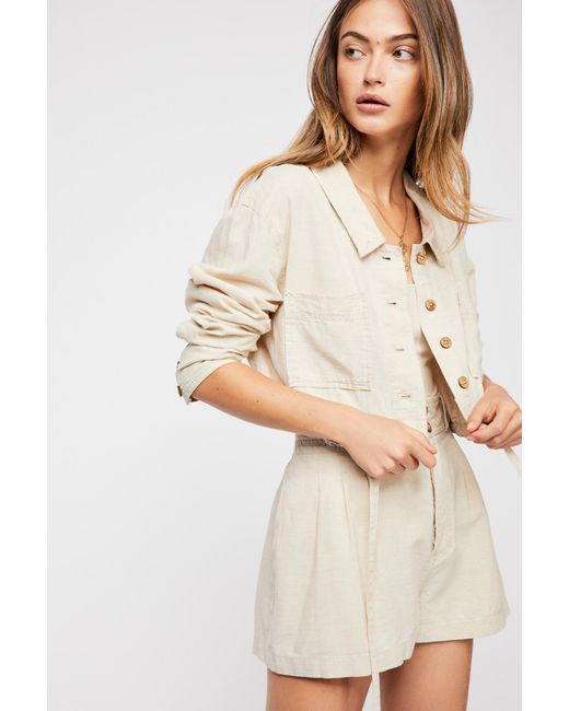 Free People - Natural Everly Suit - Lyst