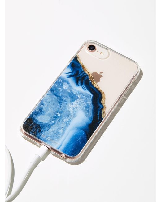 Free People | Blue Prismatic Iphone Case | Lyst