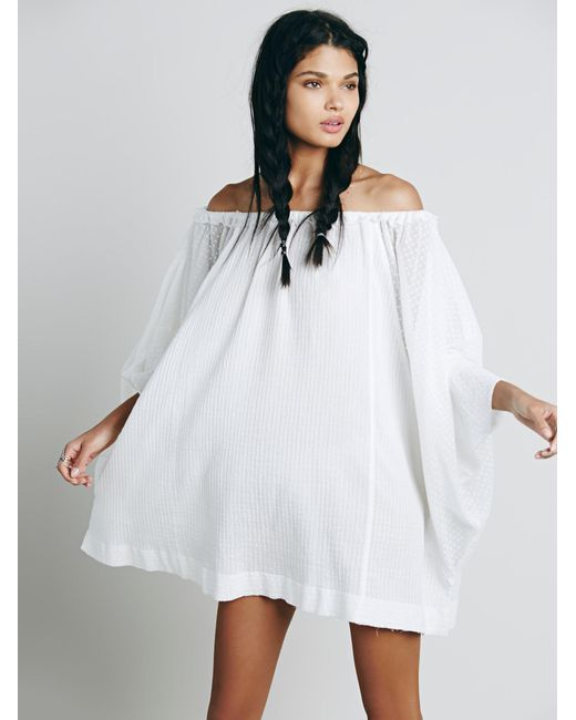 Free People | White Beach Dreamin Tunic | Lyst