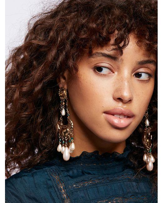 Free People | Metallic Mirabella Stone Drop Earrings | Lyst