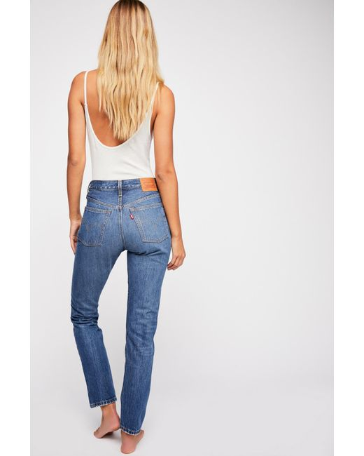 fb59fc8a Free People - Blue Levi's 501 Skinny Jeans - Lyst ...