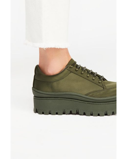 Free People - Green Top Peak Lace-up Boot By Jeffrey Campbell - Lyst