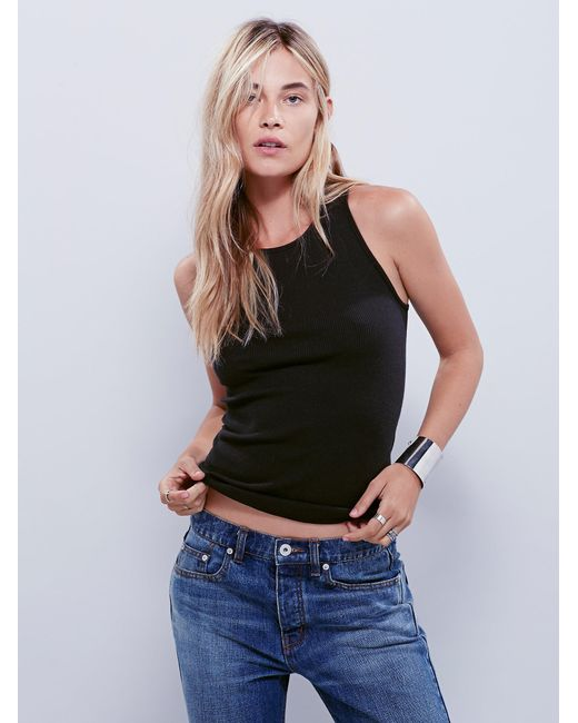 Free People | Black Come As You Are Tank | Lyst