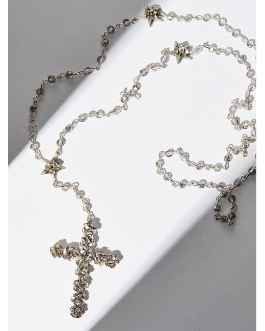 Free People   Metallic Coronation Crystal Rosary   Lyst