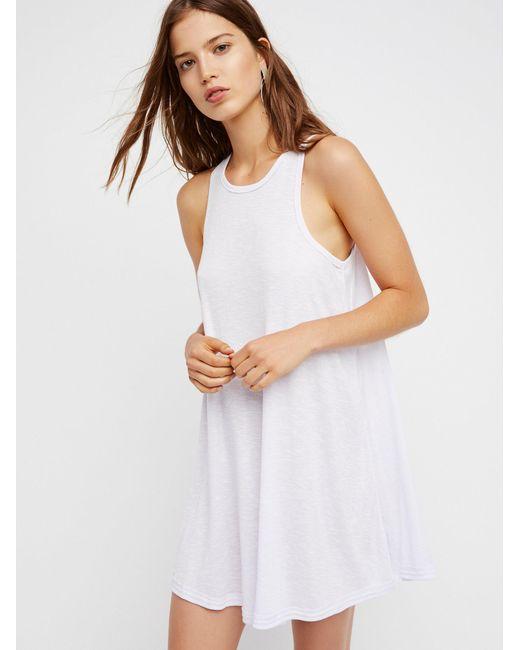 Free People   White La Nite Mini Dress   Lyst