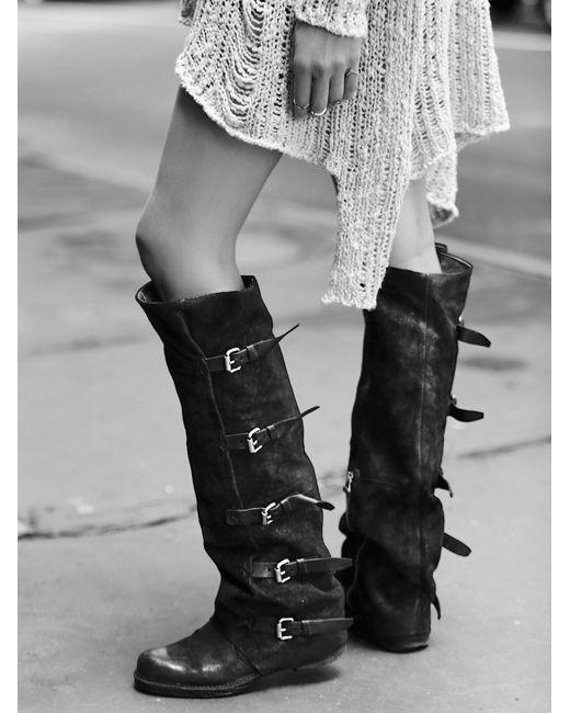 Free People | Black Tatum Over The Knee Boot | Lyst
