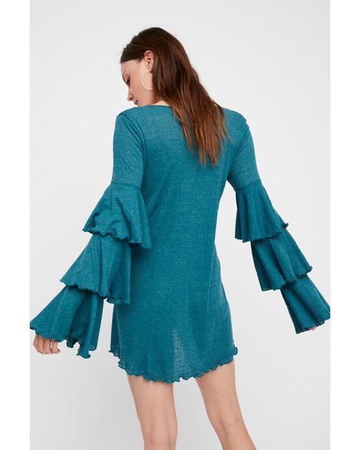 Free People - Blue Seashore Mini Dress By Fp Beach - Lyst