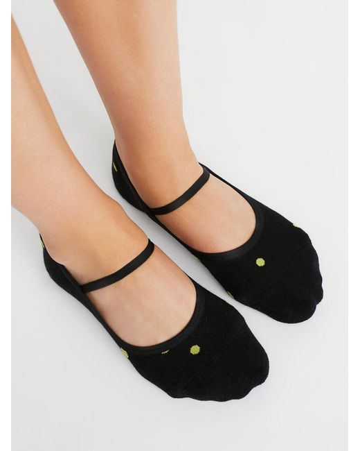 Free People - Black Tempo Dance Grip Sock - Lyst