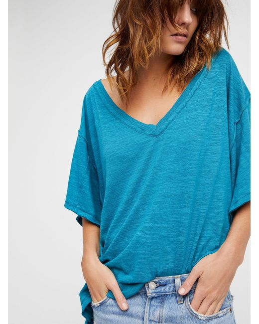 Free People | Blue We The Free My Boyfriend's Tee | Lyst