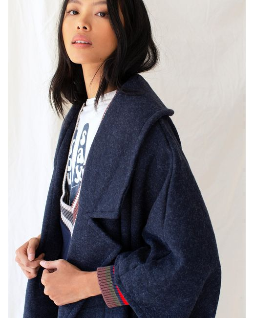 Free People Blue Off Duty Oversized Poncho