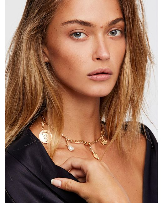 Free People | Multicolor Mix N Match Charm Necklace | Lyst
