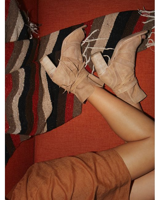 Free People | Brown Daydream Heel Boot | Lyst
