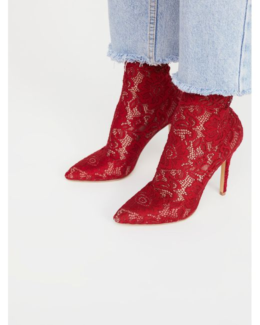 Free People | Red Best In Lace Heel | Lyst