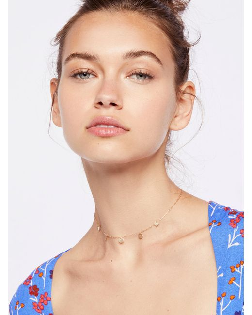 Free People | Multicolor Madrid Coins Delicate Choker | Lyst