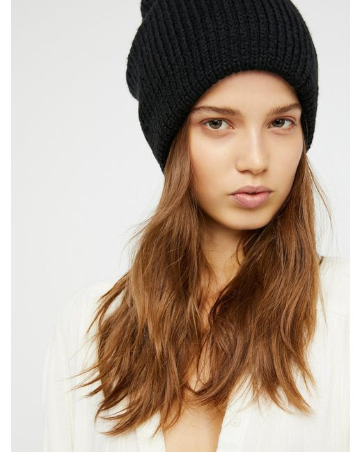 Free People | Black All Day Every Day Slouchy Beanie | Lyst
