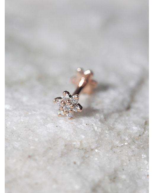 Free People | Pink Diamond Flower Helix Stud | Lyst