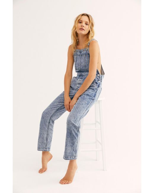 Free People Blue The Boyfriend Overall By We The Free
