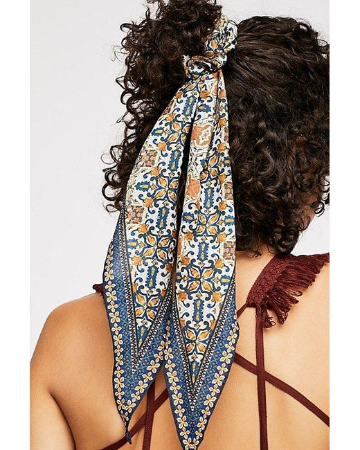 Free People Blue On The Road Scarf Pony