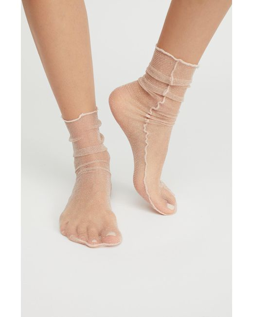 Free People - Natural Hey You Sheer Anklet - Lyst