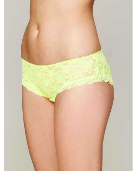 Free People - Green Lacey Basic Hipster Brief - Lyst