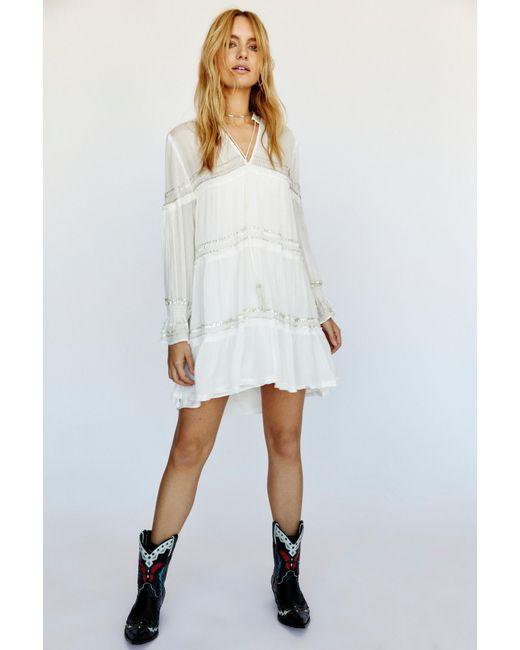 Free People White Solstice Mini Dress