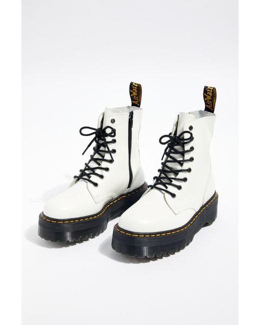 5dc8e89e815d ... Free People - White Dr. Martens Jadon Lace-up Boot - Lyst ...