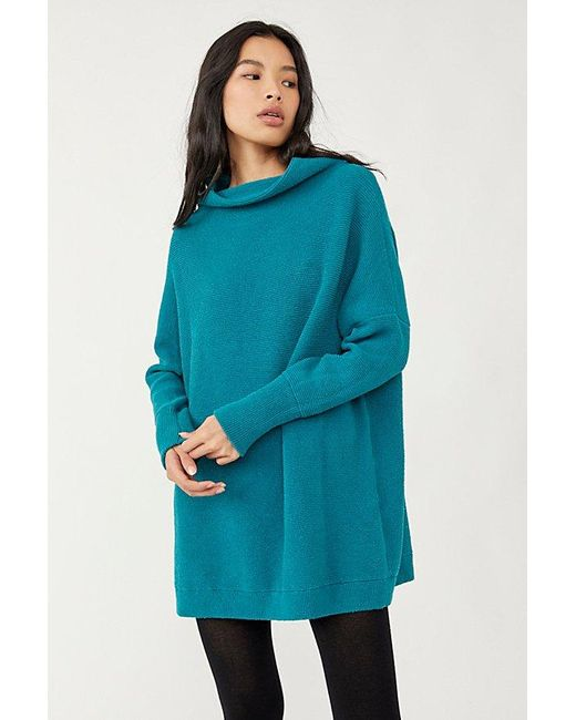 Free People Blue Ottoman Slouchy Tunic Jumper