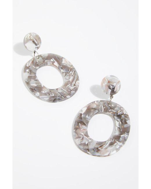 Free People - Gray Lucy Resin Hoop Earrings By Zhuu - Lyst