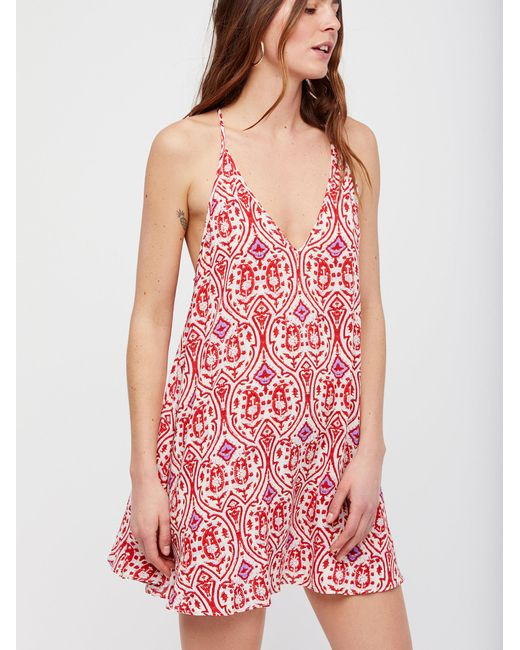 Free People | Red Ludlow Slip | Lyst