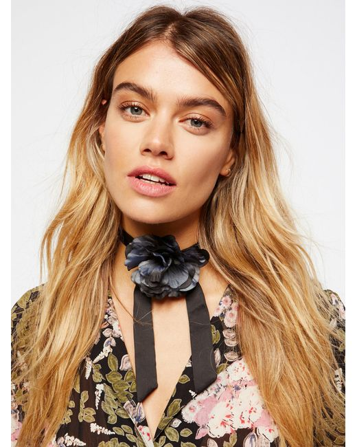 Free People   Black Accessories Jewelry Necklaces Bolos & Tassels Rock & Rose Bolo   Lyst