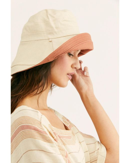 Free People - Multicolor Maisy Reversible Canvas Hat - Lyst
