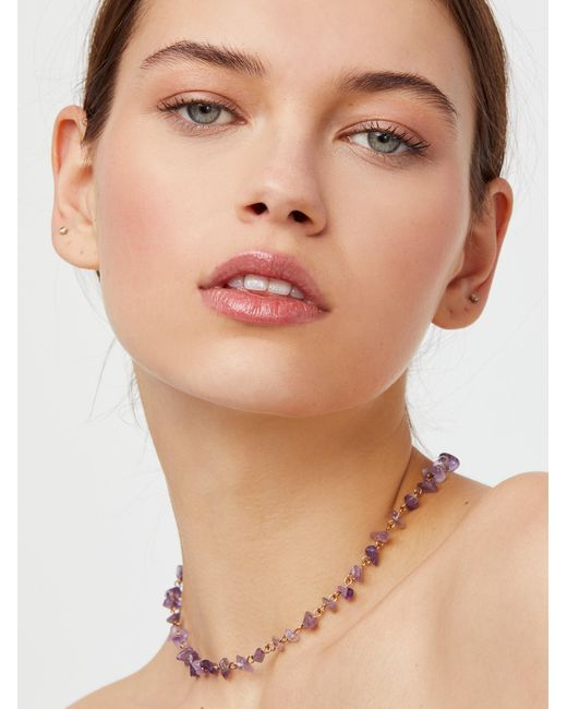 Free People - Multicolor Raw Stone Necklace - Lyst