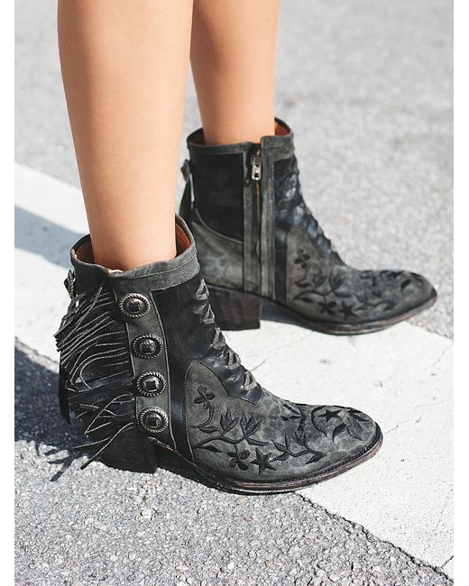 free king ranch ankle boot in black lyst