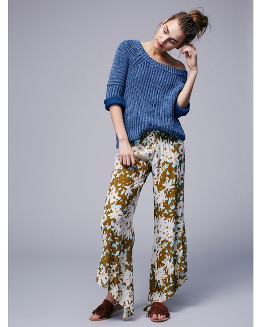 Free People | Pink Lucina Floral Hippie Pant | Lyst