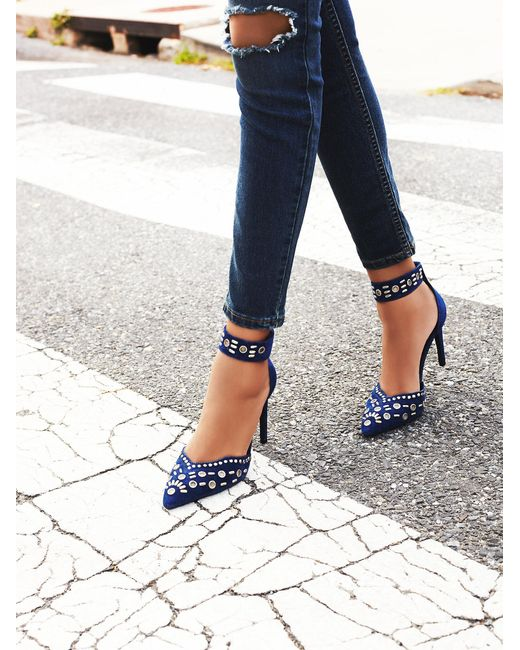 Free People | Blue Party Favor Studded Heel | Lyst