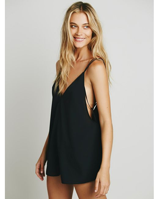 Free People | Black Serious Babe Romper | Lyst