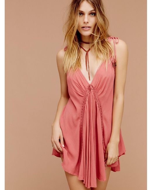 Free People | Red She's That Girl Mini | Lyst