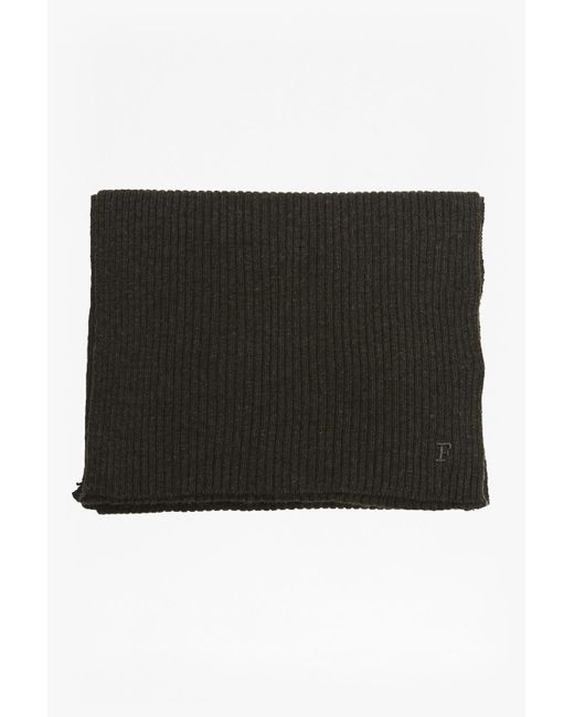 French Connection | Black Milo Mix Scarf | Lyst