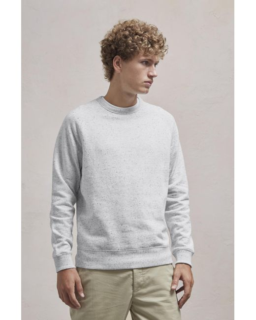 French Connection - Gray Nep Speckled Sweatshirt for Men - Lyst