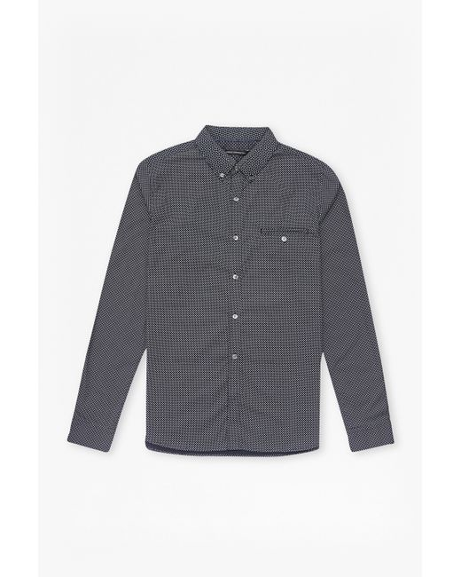 French Connection | Blue Prodigy Dot Connery Shirt for Men | Lyst