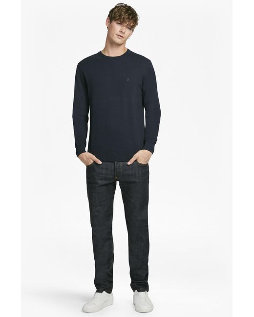 French Connection | Blue Auderly Cotton Jumper for Men | Lyst