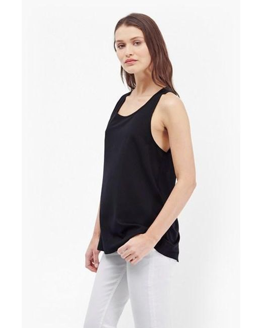 French Connection   Black Polly Plains Vest Top   Lyst
