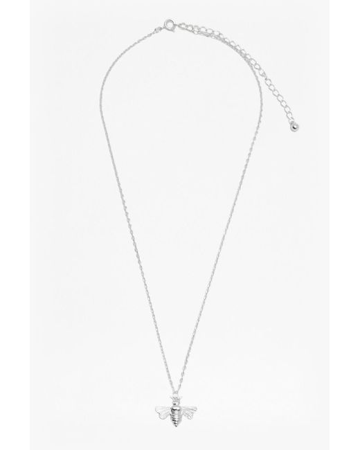 French Connection | Metallic Bees Charm Necklace | Lyst