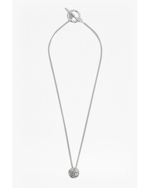 French Connection - Metallic Knotted Necklace - Lyst