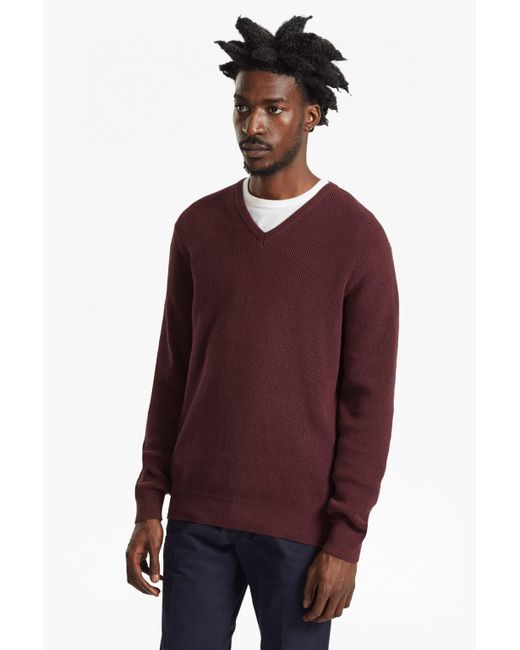 French Connection | Purple Encore Knits V Neck Jumper for Men | Lyst