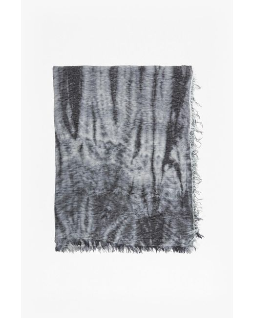 French Connection | Gray Monochrome Tie Dye Scarf | Lyst
